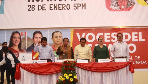 Desde el año pasado, Vladimir Cerrón convocó a los grupos políticos de izquierda para un evento en Junín. (Foto: Lino Chipana)