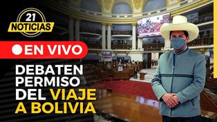 Pleno debate permiso de viaje de Castillo a Bolivia