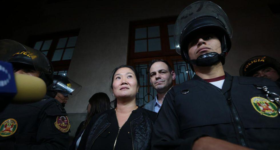 Keiko Fujimori cumple 18 meses de prisión preventiva mientras se la investiga por lavado de activos. (Hugo Pérez/GEC)