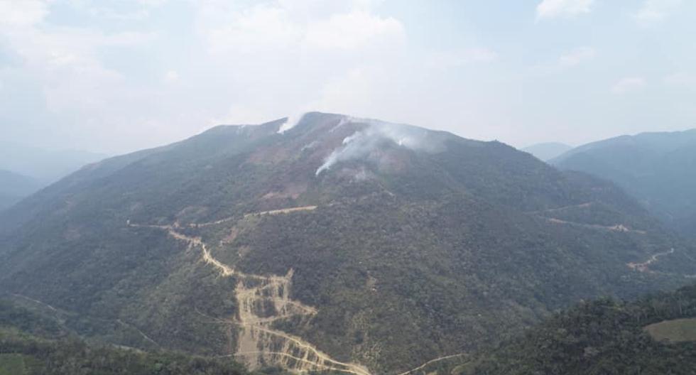 Puno: focos de incendio forestal en San Pedro de Putina se redujeron a cuatro