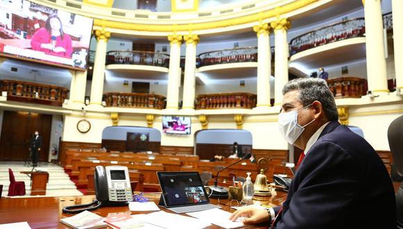 El Pleno virtual del Congreso debatió, como primer punto, el dictamen que modifica el sistema de elección de los magistrados del TC. (Foto: Difusión)