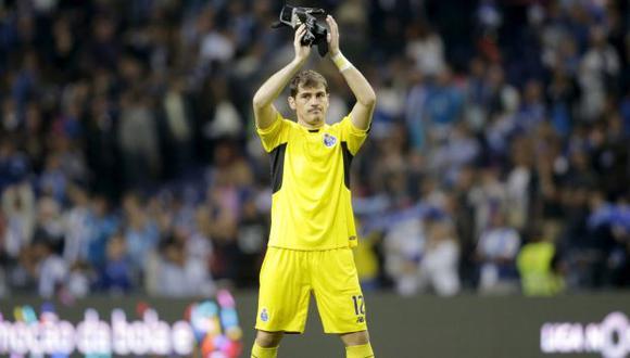 Iker Casillas debutó en triunfo del Porto en la Liga portguesa. (Reuters)