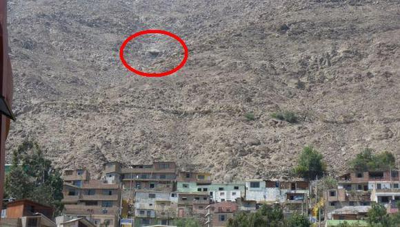 Los vecinos de la zona fueron advertidos del peligro para que estén alertas. (Andina)