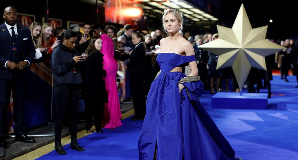 """Brie Larson, actriz que interpreta a """"Capitana Marvel"""", se robó las miradas de todos los asistentes a la ceremonia. (Fotos: AFP)"""
