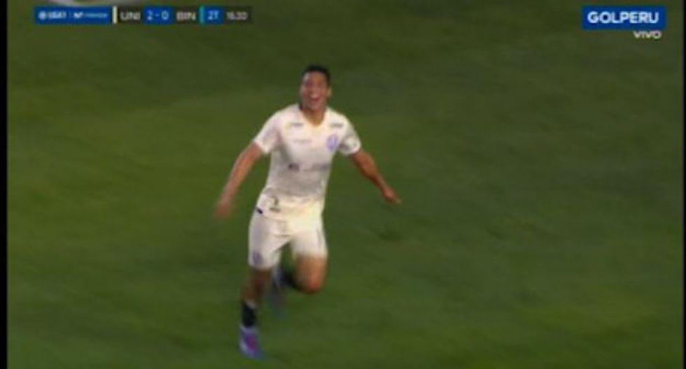 Gerson Barreto anotó su primer gol con camiseta de Universitario. (Captura: Gol Perú)