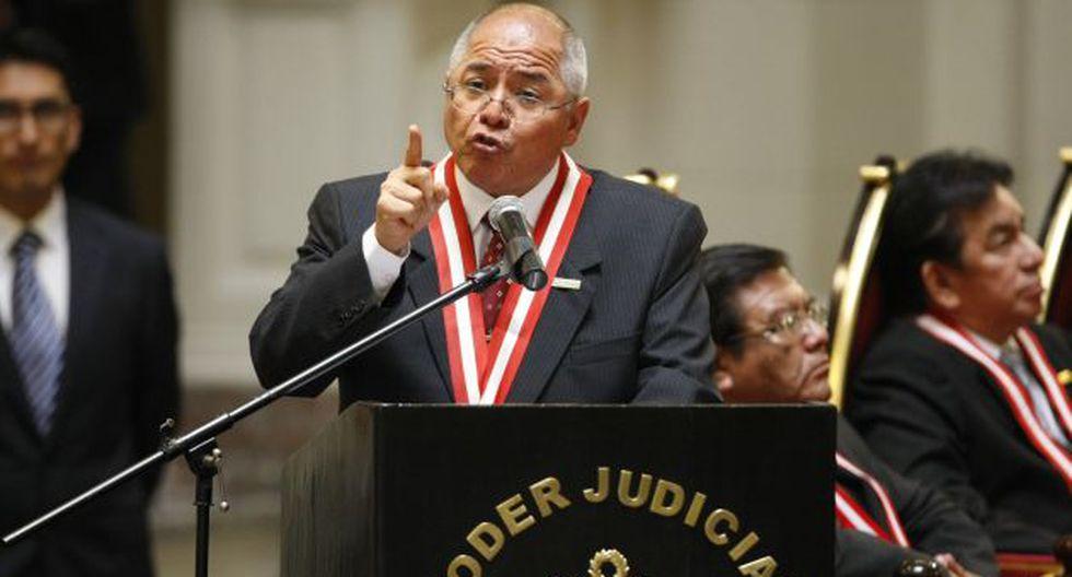 César San Martín está decidido a defender fueros del PJ. (USI)