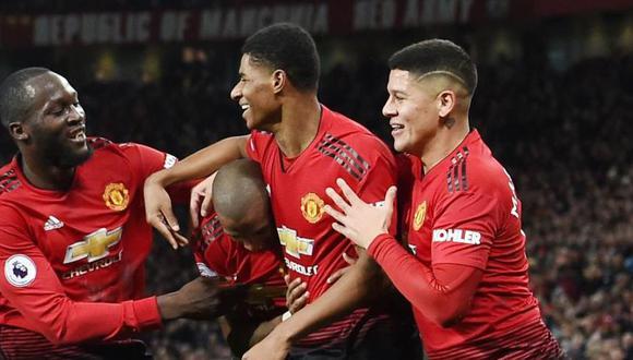 Manchester United vs. Cardiff City se miden por la fecha 18 de la Premier League (Foto: AFP).