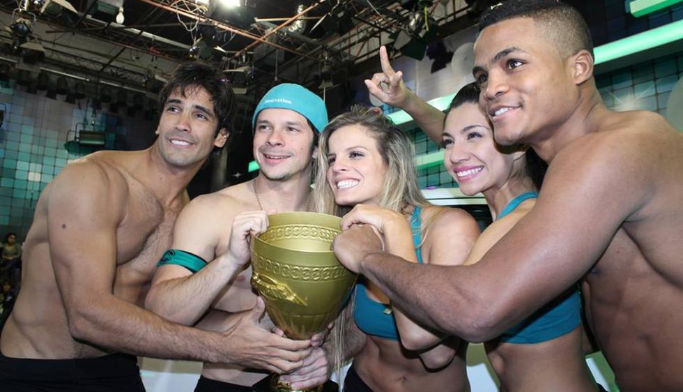 Mario Hart, Alejandra Baigorria, Israel Dreyfus, Diana Sánchez y Pantera Zegarra ganaron la tercera temporada. (Facebook de Combate)