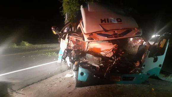 Arequipa: La Policía investiga las causas del accidente para establecer las responsabilidades. (Foto: Difusión)