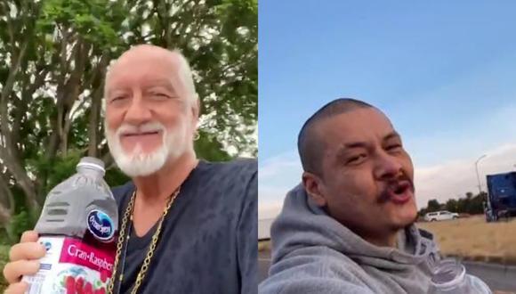 Uno de los fundadores de Fleetwood Mac rindió tributo al creador del video viral que catapultó nuevamente a la fama su éxito de 1977. | Crédito: @mickfletwood / @420doggface208 / TikTok.
