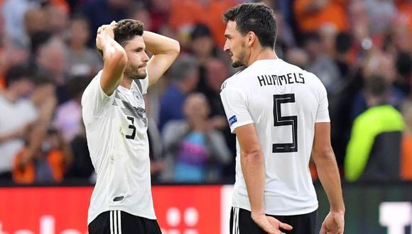 Alemania perdió 3-0 ante Holanda por la UEFA Nations League. (Foto: AFP)