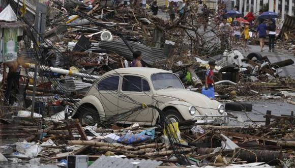 Todo es destrucción en la ciudad de Tacloban. (AP)
