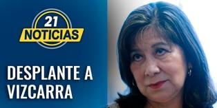 Martha Chávez se negó a tomarse la foto protocolar con el presidente Martín Vizcarra