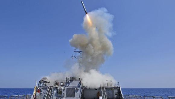 DESDE EL MAR. Flota estadounidense lanzaría misiles desde el Mediterráneo para disuadir a sirios. (Reuters)