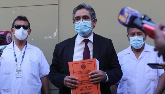 El fiscal José Domingo Pérez presentó ayer la acusación contra Keiko Fujimori. (Foto: Lino Chipana/ El Comercio)