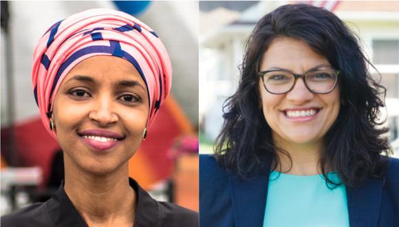 Victoria de las dos demócratas, Ilhan Omar y Rashida Tlaib. | Foto: Twitter