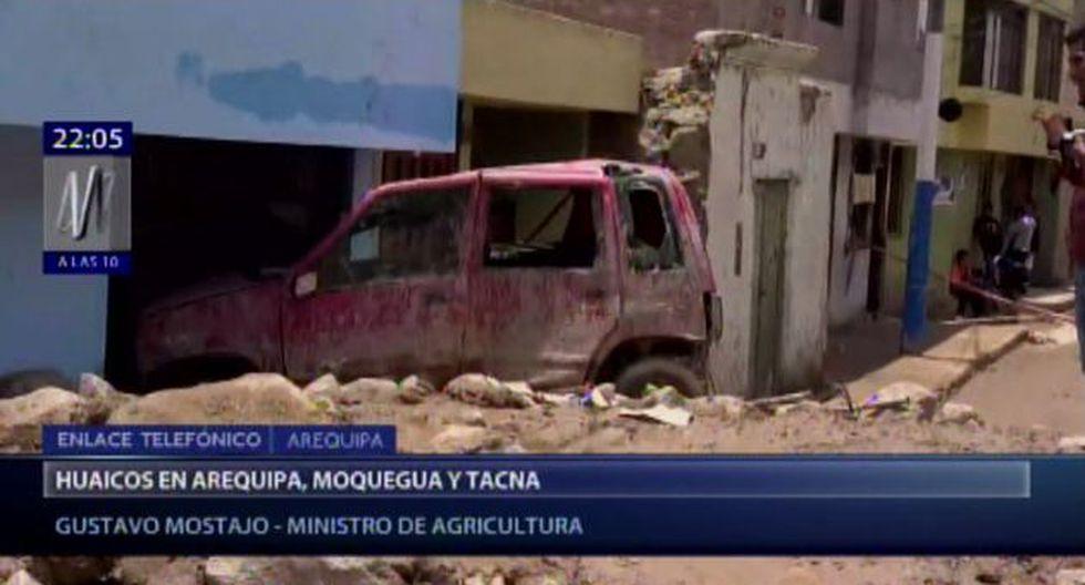 El ministro de Agricultura y Riego indicó que el Gobierno está brindando ayuda a todos los damnificados por los huaicos. (Foto: Canal N)