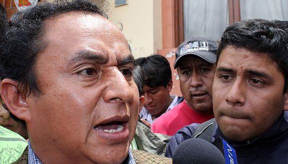 Gregorio Santos no pasa desapercibido para el Ministerio Público de Cajamarca. (Fabiola Valle)