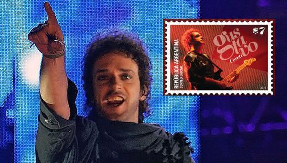 Gustavo Cerati: Correo Argentino le dedicó una estampilla conmemorativa. (USI)
