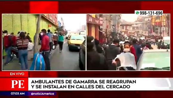 Informales toman las calles del Cercado de Lima. (Captura)