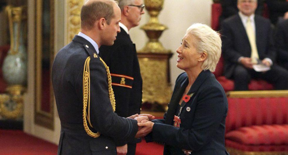 El príncipe William nombró a la actriz Emma Thompson dama del Imperio Británico | FOTOS (Foto: AP)