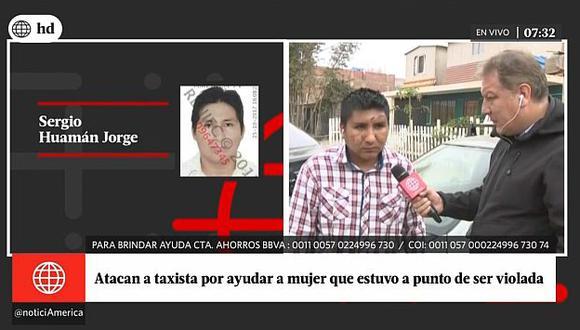 Taxista que quedó desfigurado por evitar que sujeto viole a mujer  teme por su vida. (Captura de TV)