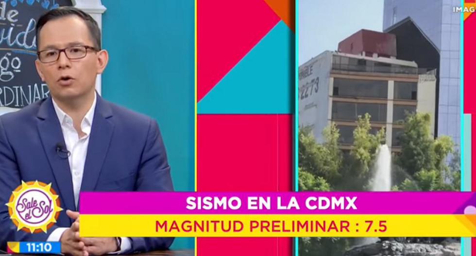 Tensión durante el sismo de magnitud 7,5 en México. (Foto: Captura YouTube)