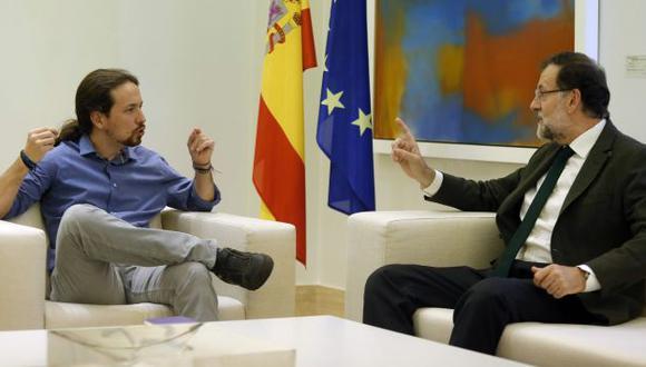 España: Podemos de Pablo Iglesias se niega a apoyar un nuevo gobierno de Mariano Rajoy. (Reuters)