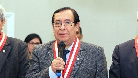 El juez supremo Víctor Prado Saldarriaga, nuevo presidente del Poder Judicial, pidió disculpas por los actos de corrupción que salieron a la luz. (Difusión)