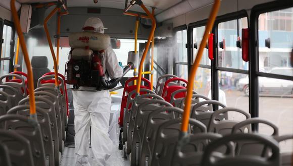 La Municipalidad de Lima informó de los procesos de limpieza en los buses de los corredores complementarios. (Difusión)