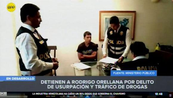 El hijo de Rodolfo Orellana fue detenido por la Policía y el Ministerio Público. (RPP Televisión)