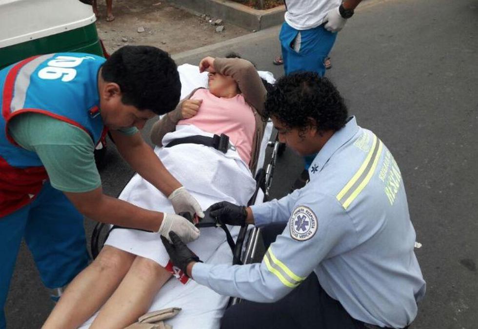 Una joven mujer identificada como Evelin Kety Campuzano Tomas dio a luz hoy en un mototaxi. (Municipalidad de Surco)