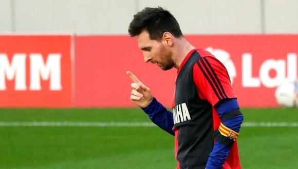 Lionel Messi habló de la muerte de Diego Maradona y el homenaje con la camiseta de Newell's Old Boys. (Foto: AFP)