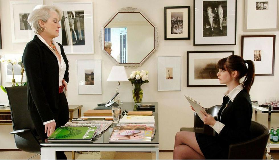 El diablo se viste de moda.Una periodista llega a trabajar a la revista de moda más prestigiosa de Estados Unidos. Sin embargo, los problemas aparecen cuando tiene que lidiar con su exigente jefa. (Foto: Difusión)