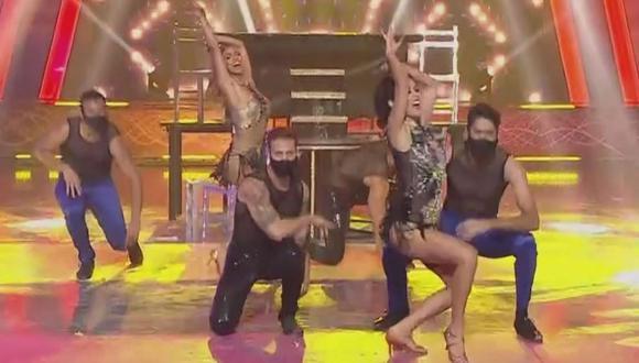 """""""Esto es Guerra"""": Yahaira Plasencia y Melissa Loza superaron a Rosángela Espinoza y Paloma Fiuza en duelo de baile. (Foto: Captura de video)"""