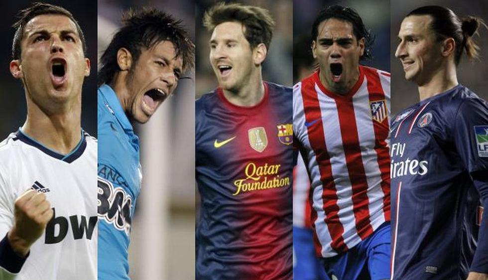 De los cinco, solo Cristiano Ronaldo y Lionel Messi fueron incluidos en el 2011. (Reuters/AP)