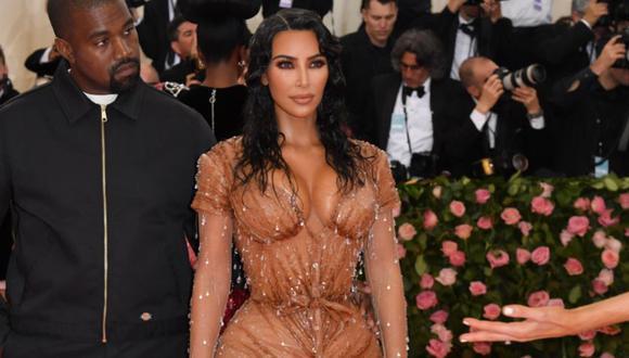 Kim Kardashian generó polémica con el nombre de su marca de ropa interior. (Foto: AFP)