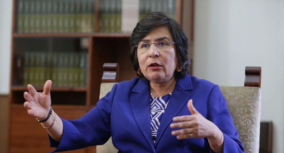 """La presidenta del TC, Marianella Ledesma, consideró que la renovación de magistrados de dicho organismo debería ser """"por tercios"""". (Foto: GEC)"""