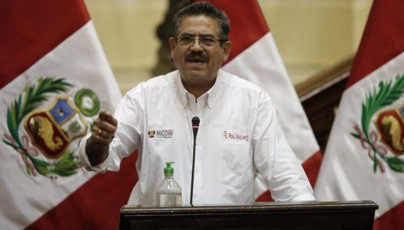 El presidente del Congreso, Manuel Merino, anunció que se iniciará investigación para hallar responsabilidad. (Foto: Congreso)