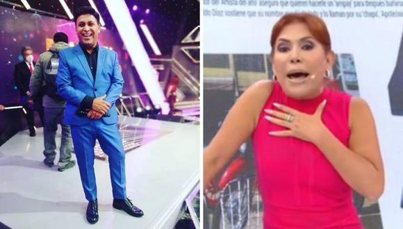 """Magaly Medina negó que esté siguiendo a Aldo """"Apotiósico"""" Díaz. (Foto: Captura ATV @elnuevoshowdeapotiosico)."""