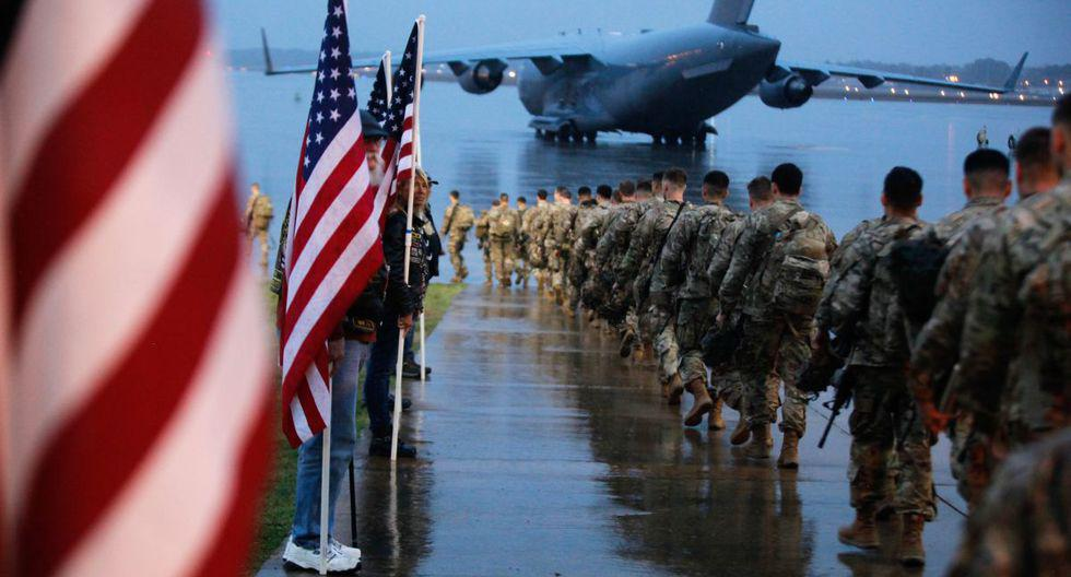 Cientos de soldados de Estados Unidos viajaron hacia el Medio Oriente. Foto: AFP