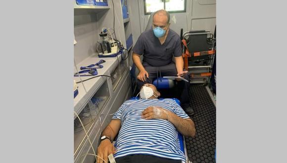 La autoridad provincial registró una baja saturación y tuvo que ser internado por recomendación de su médico (Foto: Andina)