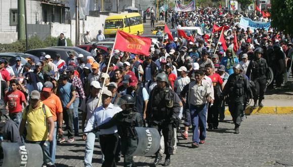 En Arequipa ya se han registrado protestas por el recorte del canon. (Heiner Aparicio)
