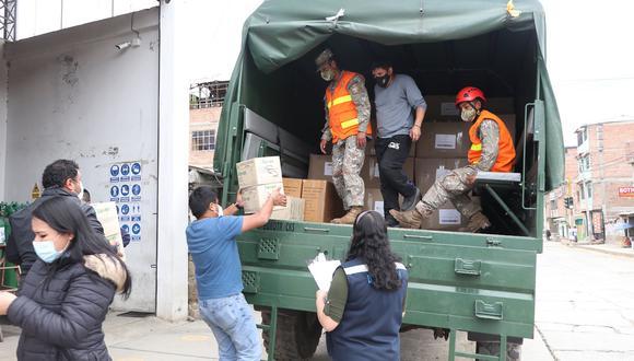 Áncash: distribuyen 11 toneladas de equipos de protección personal y pruebas COVID-19 (Foto: Diresa Áncash)