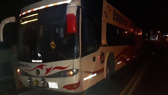 Los buses fueron asaltados en la madrugada en la vía Huaraz-Casma. (Foto: GEC)