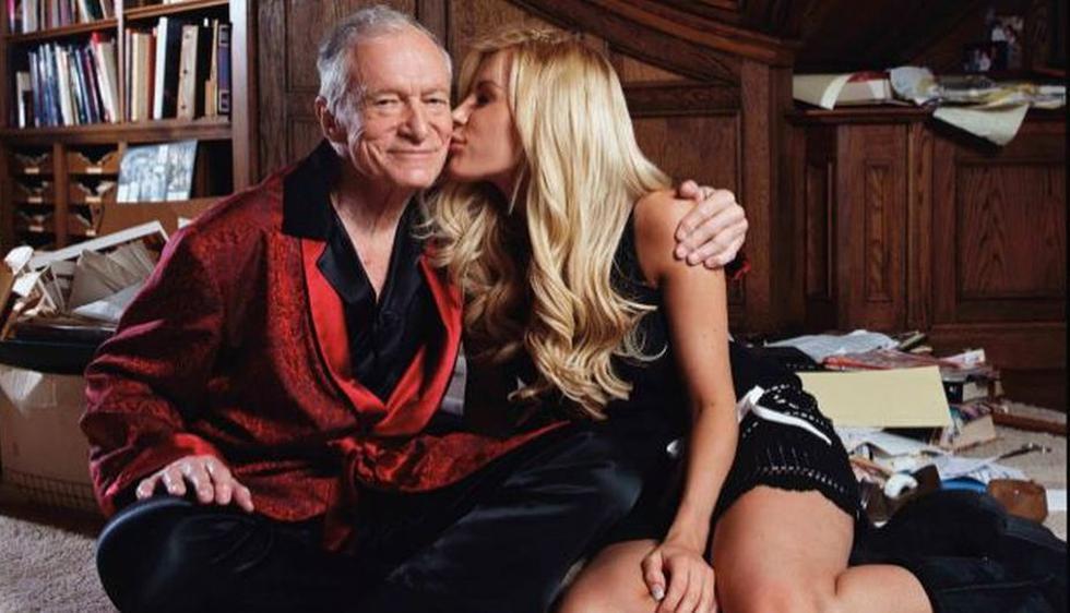 Hugh Hefner y Crystal Harris. Él tiene 86 años, y su prometida, solo 26. Decidieron casarse el 31 de diciembre. (Agencias)