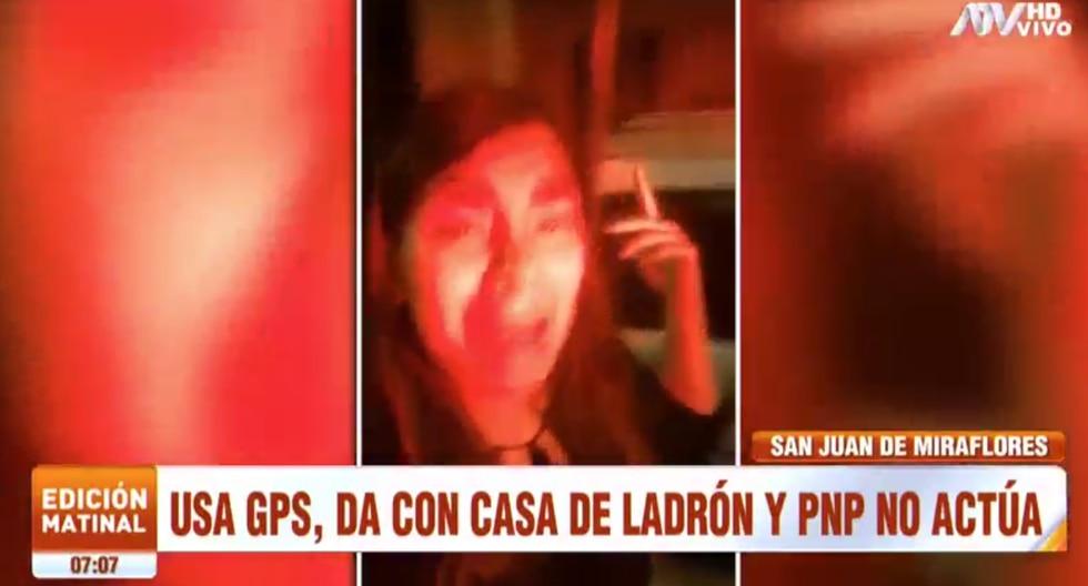 Mujer pide a policías intervenir tras ubicar la casa de los malhechores. (Foto: Captura ATV)