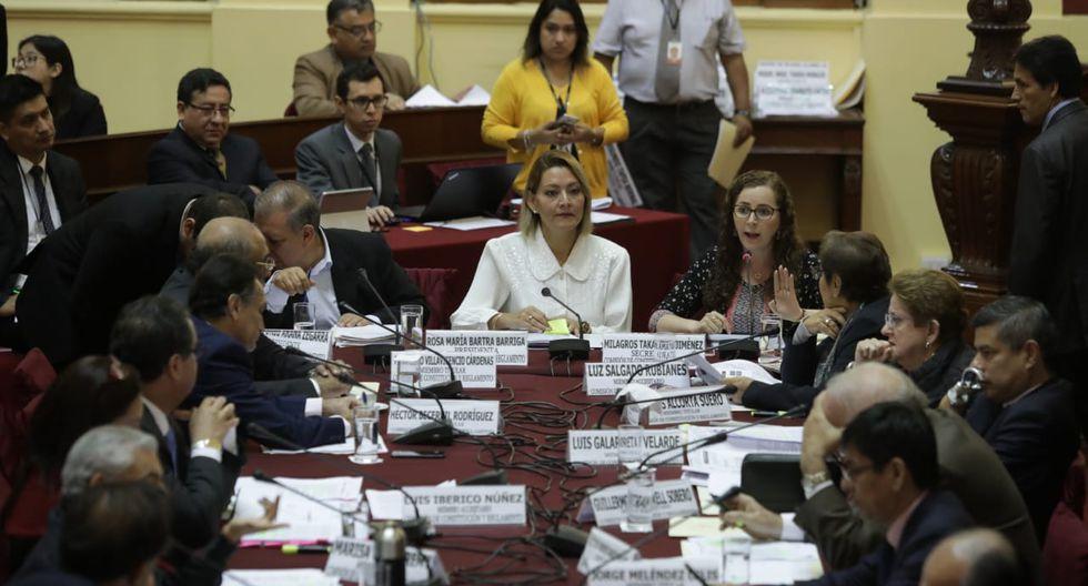 La Comisión de Constitución debate los proyectos de reforma política presentados por el Ejecutivo. (Foto: Anthony Niño de Guzmán / GEC)