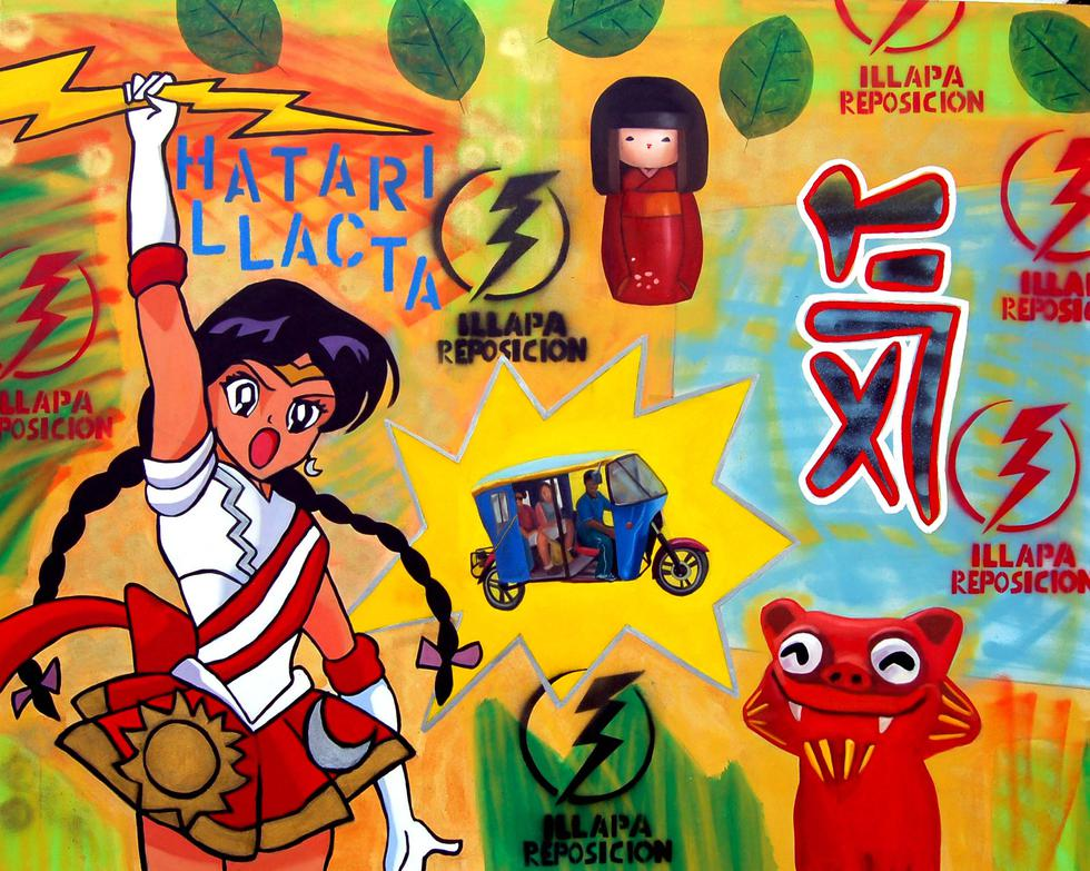 'Illapa', pintura que podrá encontrar en la exposición individual de Jorge Miyagui (Difusión).