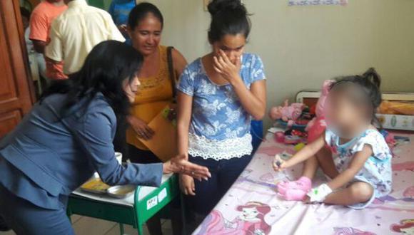Viceministra viajó a Yurimaguas para conocer el estado de la menor. (MIMPV)
